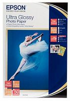 Бумага Epson S041943 Premium Ultra Glossy Photo Paper 10x15 (A6), 300 г/м2 50л.