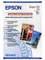 Бумага Epson S041328 Premium Semigloss Photo A3+, 251 г/м2 20л.