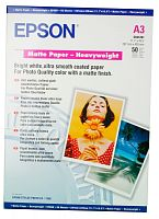 Бумага Epson S041261 Matte HeavyWeight, матовая A3, 167 г/м2 50л.